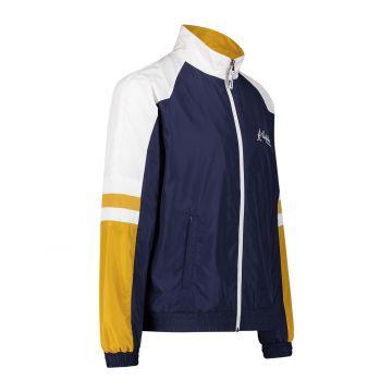 Australian sportswear trainingsjack gele witte mouwen | cosmo blauw