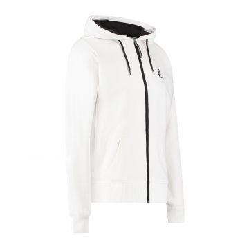 Australian sportswear zip hoodie abstracte print van capuchon tot rug | wit