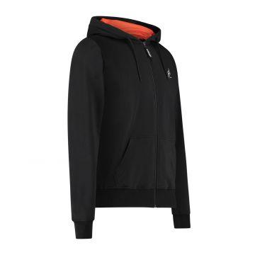 Australian Sportswear zip hoodie abstracte print van capuchon tot rug | zwart