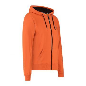 Australian sportswear zip hoodie abstracte print van capuchon tot rug | lava