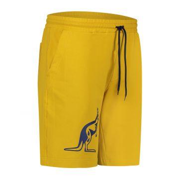 Australian Sportswear bermuda met grote blauwe kangoeroe   mosterdgeel