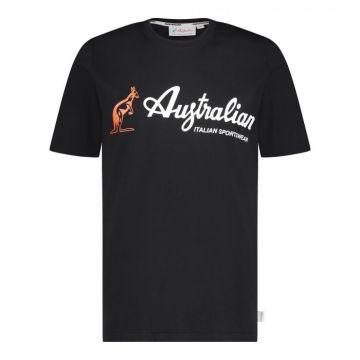 Australian sportswear T-shirt basic logo 003A | zwart