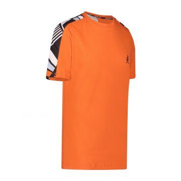 Australian Sportswear T-shirt met print bies op de schouders | lava