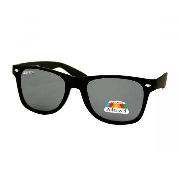 Loud and Clear zonnebril zwart mat montuur | zwart gepolariseerd glas