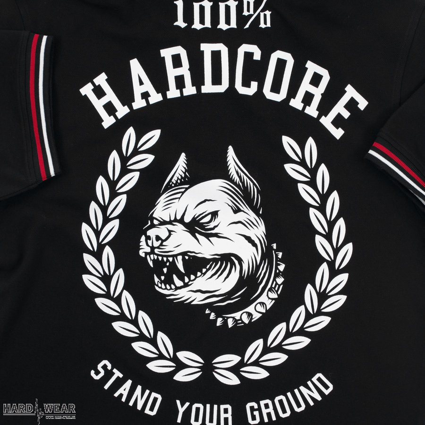 100% Hardcore polo | stand your ground ☓ zwart