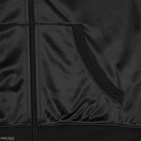 Hardcore United dames hooded zipper roze goth logo print | zwart