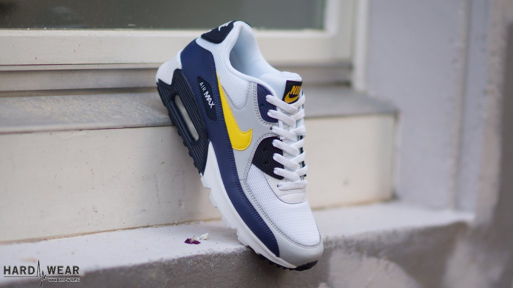 NIKE Air Max 90 Essential | blauw geel wit