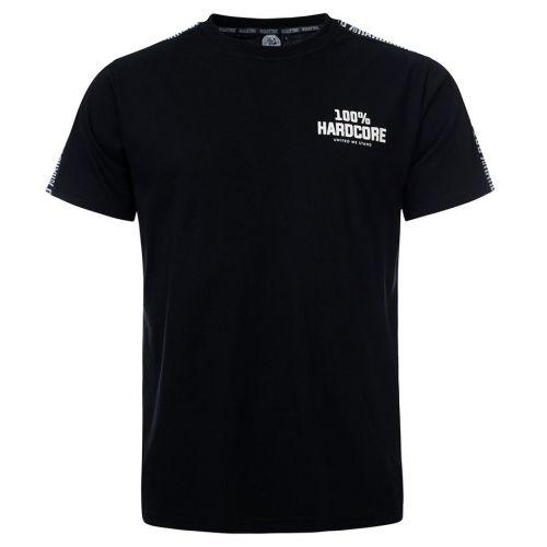 100% Hardcore T-shirt met schouder bies UNITED SPORT | zwart