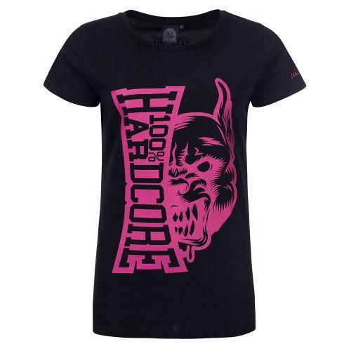 100% Hardcore dames T-shirt Rage | zwart