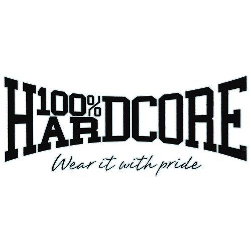 100% Hardcore autosticker WEAR IT WITH PRIDE 70 x 30 CM | zwart
