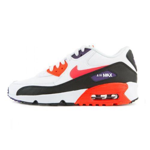 Nike Air Max 90 LTR (GS)   white/bright crimson-black