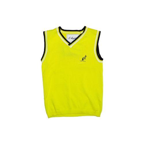 Australian spencer voor kinderen logo in reliëf  | geel