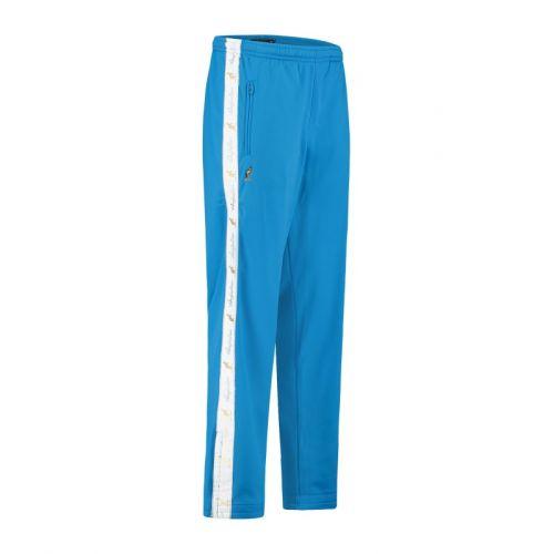 Australian broek met 2 ritsen en witte bies 2.0   capri blauw