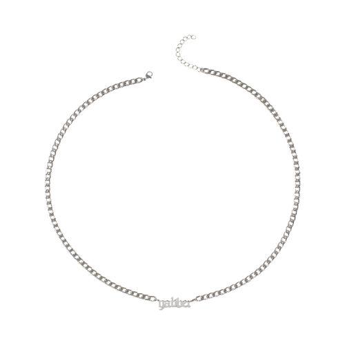 100% Hardcore ketting gabber 65 CM | zilver
