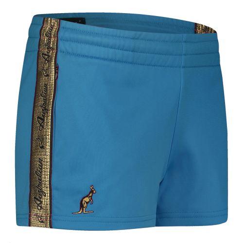 Australian dames hotpants met gouden bies 2.0 | teal blue
