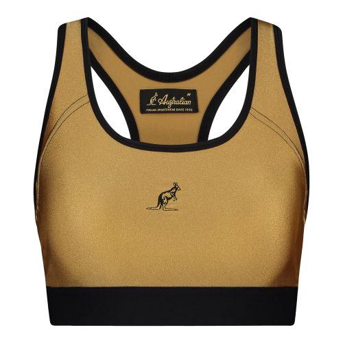 Australian dames glossy sporttop | brons