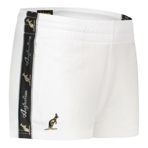 Australian dames hotpants met zwarte bies 2.0 | wit