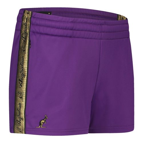 Australian dames hotpants met gouden bies 2.0 | paars