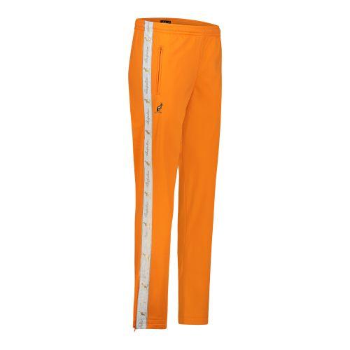 Australian broek met 2 ritsen en witte bies 2.0   neon oranje