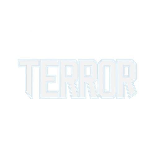 Terror autosticker THE BRAND 70 x 30 CM | wit
